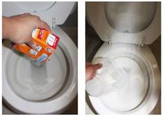 tip: How to use vinegar and baking soda to remove hard water stains from your toilet bowl.Cleaning tip: How to use vinegar and baking soda to remove hard water stains from your toilet bowl. Deep Cleaning Tips, House Cleaning Tips, Natural Cleaning Products, Spring Cleaning, Cleaning Hacks, Household Products, Organizing Tips, Organization, Cleaning Vinegar