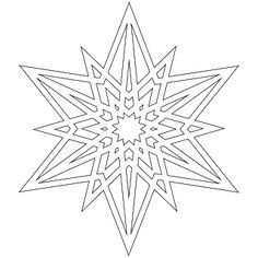 A half dozen inch snowflakes to color, use as digital stamps for scrapbooking, embroider or cut out very carefully to use as negative st. Making Paper Snowflakes, Christmas Snowflakes, Christmas Colors, Christmas Crafts, Snowflake Coloring Pages, Free Coloring Pages, Coloring Books, Colouring, Kirigami