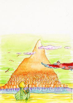 Ilustração para um conto de Ana Margarida Leitão.