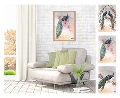 These peacock art pictures can brighten any space up and give it a natural feel. Wall Art, Home N Decor, Decor Design, Modern House, Modern Design, Home Decor, Space Up, Modern Decor, Prints
