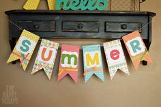 Colorful Summer Banner - The Happy Scraps
