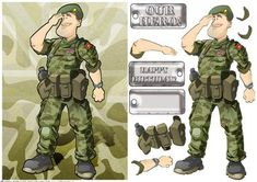 British Army Dude Green Beret on Craftsuprint designed by Gordon Fraser - Army Dude Green Beret proudly salutes! Easy to make with decoupage, sentiment and blank dog tags! More versions of this forces Dude are available (plus many more of the services!) Just click on my name to see more of my original illustrations and Dude designs. Thanks for looking.  - Now available for download!