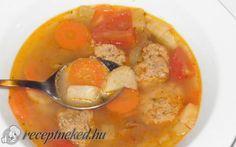 Zöldségleves májgaluskával recept fotóval