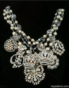 Statement jewels / karen cox.  kay adams....Crystal and rhinestone statement bib necklace (jewelry)