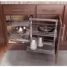 Amazon.com: Chrome Blind Corner Organizer Pullout Unit for Kitchen ...