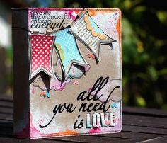 """all you need is LOVE"" mini scrapbook album"