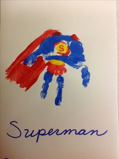Superman Handprint craft for kids