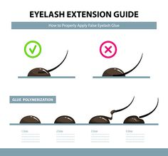 How to properly apply false eyelash glue. How to properly apply false eyelash glue. Glue polymeri , ALWAYS put shorter extensions on baby lashes ☝🏻 Why? Eyelash Extensions Aftercare, Eyelash Extensions Styles, Long Extensions, Semi Permanent Eyelashes, Applying False Eyelashes, Fake Eyelashes, Applying Eye Makeup, Eyelash Extension Training, Russian Volume Lashes