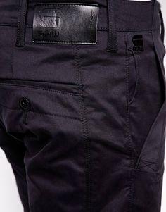 G-Star Raw Correct Bronson 3D Slim Fit Cotton Twill Chinos in Mazarine Blue | ASOS