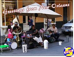 When those Saints go marching in! A family band and good jazz rocks a street in the French Quarter in New Orleans. On the road with Niki, Jack and Snowbird RV Trails. Rv Campgrounds, Cool Jazz, French Quarter, New Orleans, Baby Strollers, Trail, Saints, Rocks, Band