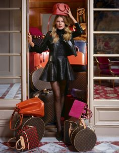 Check into the Hotel de Crillon of Paris with Dree Hemingway and the Louis Vuitton Pre-Fall 2013 Collection.