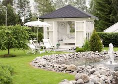 5 ways to transform your shed. Ideas, inspiration and creative ways to turn your shed into something you love to spend time in. Summer House Garden, Garden Pool, Terrace Garden, Tropical Garden, Garden Sheds, Pergola Ideas For Patio, Patio Pergola, Backyard Landscaping, Gazebo