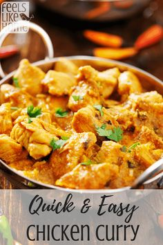 How to make the best quick & easy chicken curry with cilantro couscous - This simple Indian recipe is perfect for weeknight dinners. Ginger Chutney Recipe, Chutney Recipes, Easy Indian Recipes, Ethnic Recipes, Homemade Curry, Indian Cookbook, Fried Fish Recipes, Baked Cauliflower, Easy Chicken Curry