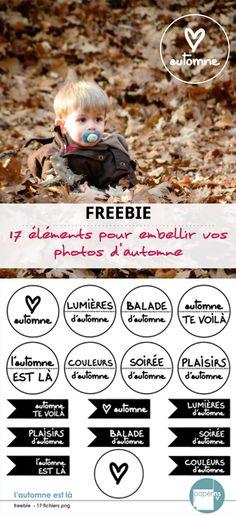 Une nouvelle saison commence ! Les éléments de ce freebie seront parfaits pour embellir vos pages et albums de scrapbooking ou tout simplement vos photos d'automne.