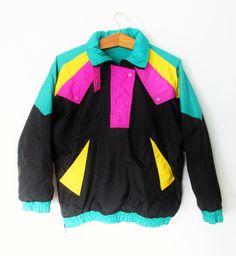 Vintage 1980s Neon Ski Jacket by FreshtoDeathVintage on Etsy https://www.etsy.com/listing/265457490/vintage-1980s-neon-ski-jacket