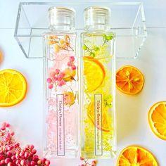 Candy Drinks, Fun Drinks, Korean Tea, Botanical Interior, Fruit Combinations, Valentine's Day Gift Baskets, Cute Water Bottles, Flower Bottle, Flowers In Jars