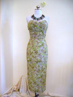 1950's French Silk Dress