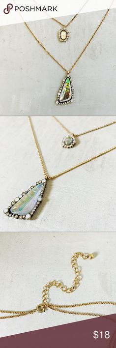 ⭐️ 2/$30 ⭐️ Layered Necklace Beautiful iridescent dual layered necklace. Matching earrings sold here too! ⭐️ 2/$30 ⭐️ bundle two 2/$30 items, offer $30 and I'll accept! Jewelry Necklaces