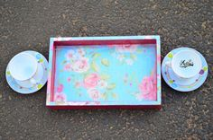 Wooden tray - Floral Print