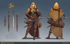 ArtStation - Travelling warrior Jay concept, Roman Zawadzki