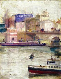 The Seine at Saint-Cloud  -  Edvard Munch 1890Stenersenmuseet, Oslo