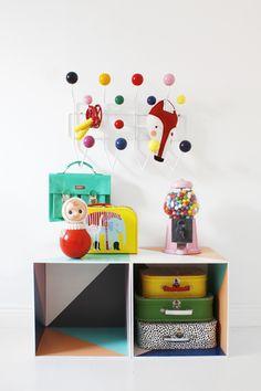 valises colorées pour rangement