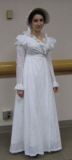 """1810 cross-front gown from """"Cut of Women's Clothes"""""""