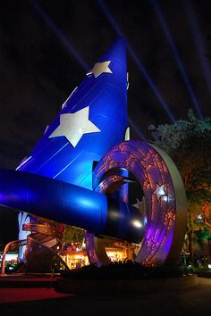 Mickey's sorcerer hat at Walt Disney World's Hollywood Studios Bay Lake, Florida.