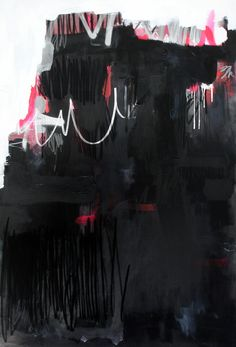 Federico Saenz-Recio, Untitled, Acrylic,graphite, pastel and spraypaint on canvas, 48 x 68inches.