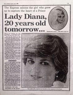 Lady Diana 20 Years old