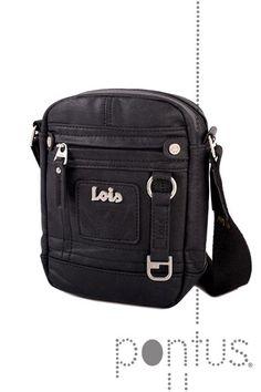 Bolsa tiracolo Lois legend 44319 14x19x5cm preta | JB
