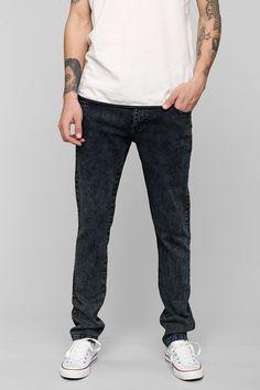 Native Youth Blue Acid Wash Skinny Jean