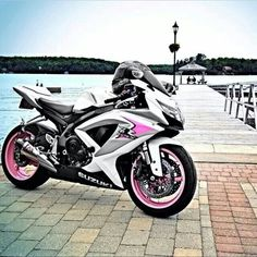 Pink and black and white Gsxr