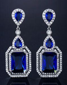 Cercei Swarovski Luxury Saphire Ear Jewelry, Jewellery, Swarovski, Sapphire, Stones, Drop Earrings, Watch, Luxury, Diamond