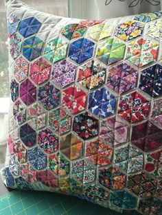 Image result for quilting hexagon pillows