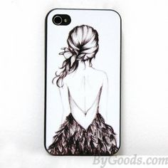 Hand-drawn Sketch Girl Print Iphone Case for Iphone 4/4s/5|Creative Iphone Cases - Iphone Accessories|ByGoods.com