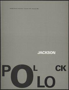 Wim Crouwel – Jackson Pollock, 1979