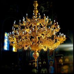 Chandelier in a Greek Church