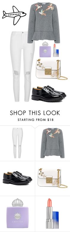 """Senza titolo #1576"" by mrsagati ❤ liked on Polyvore featuring River Island, RED Valentino, Tricker's, MICHAEL Michael Kors, AMOUAGE and Estée Lauder"