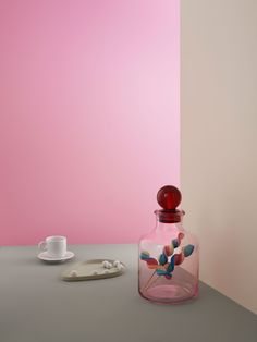 Vorratsglas Magic Candyfloss Rose Liter) von Tivoli by Normann Copenhagen Design Bestseller, Parks, Color Effect, Bold Colors, Vase, Magic, Lights, Inspiration, Tableware