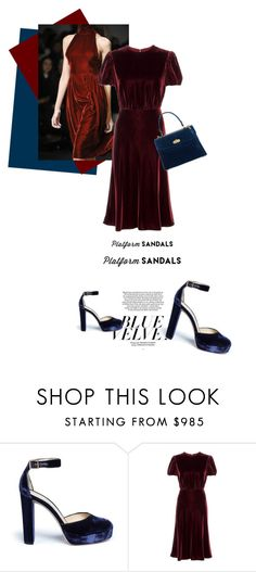"""""""Soon"""" by theitalianglam ❤ liked on Polyvore featuring Jimmy Choo, Valentino, Ralph Lauren and platforms"""
