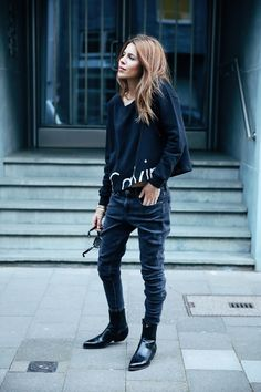 Street style #fashion #denim