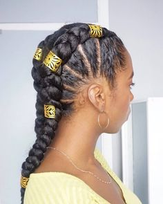 20 coiffures tendances pour la rentrée 2019 – Back to school – Ma Coiffeuse Afr… 20 hairstyles trends for the fall of 2019 – Back to school – My Afro Dressing Table African Hairstyles, Girl Hairstyles, Braided Hairstyles, Natural Hair Updo, Natural Hair Styles, Goddess Braid Styles, Medium Hair Styles, Curly Hair Styles, Beautiful Braids