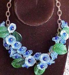 morning glory necklace
