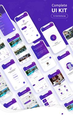 Complete iOS UI Kit for hotel booking app which include 20 screens.