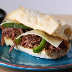 Italian Beef Sandwiches...don't imagine it will taste like Chicago, but we'll give it a try
