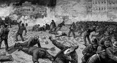 The Haymarket Riot. Police battle workers near Haymarket Square in the aftermath of the bomb explosion. (Frank Leslie's Illustrated Newspaper, May 15, 1886; Author's Collection.)