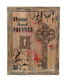 Take a look at this 'Home' Key Wall Plaque by Wilco on #zulily today!