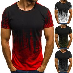aa495380b2c99 Mens Slim Fit O Neck Short Long Sleeve Muscle Tee T-shirt Casual Tops Blouse
