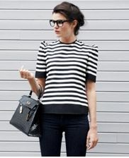 classic black and white stripes. Streetstyle